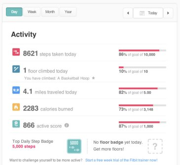 fitbit activity graph