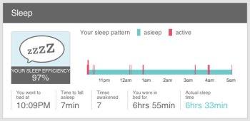 fitbit sleep record